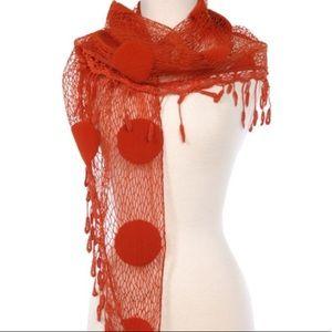 Ryu Crochet Lace Tulle Boho Romantic Scarf